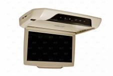 Автомобильный потолочный монитор бежевого цвета
