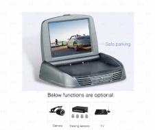"""Универсальный автомобильный складной(антивандальный) монитор 3,5"""" для установки"""